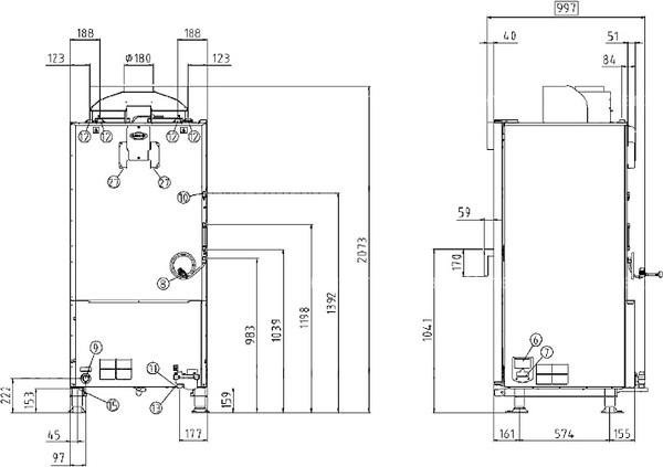 Схема монтажа UNOX XVC 1015 EG