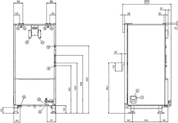 Схема монтажа UNOX XVC 1005
